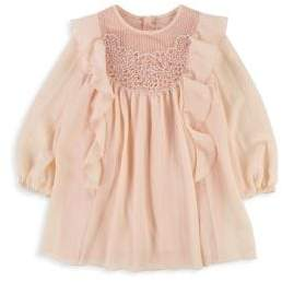 Chloé Little Girl's& Girl's Embroidered Yoke Couture Dress