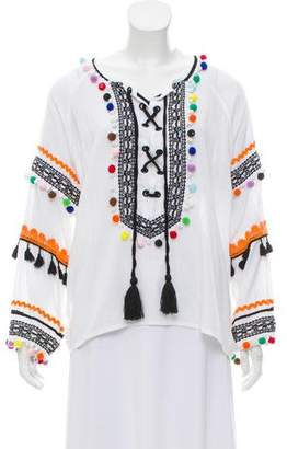Dodo Bar Or Pom-Pom-Embellished Tunic