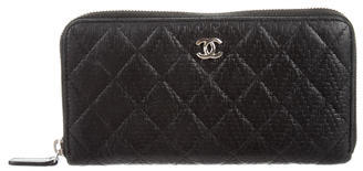 Chanel Chanel Quilted Zip Around Wallet