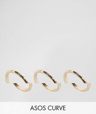 Asos Pack of 3 Faceted Rings
