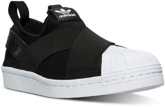adidas Women's Superstar Slip-On Casual Sneakers from Finish Line $64.99 thestylecure.com