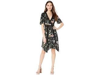f2bf9ae38f BCBGMAXAZRIA Floral V-Neck Printed Matte Jersey Dress