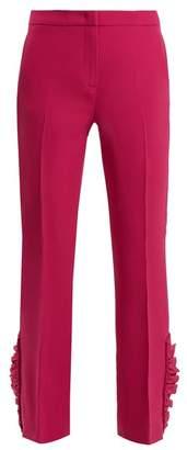 No.21 No. 21 - Mid Rise Ruffle Hem Trousers - Womens - Dark Pink