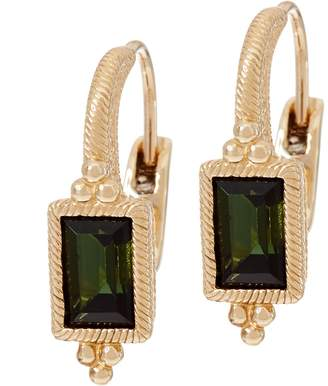 Judith Ripka 14K Gold 0.95 cttw Green Tourmaline Earrings