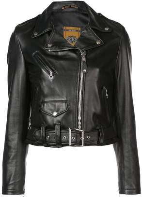 Schott (ショット) - Schott cropped biker jacket