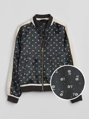 Gap Floral Flight Jacket