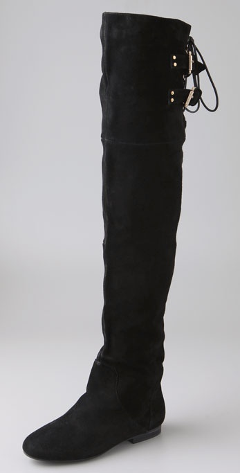 Jeffrey Campbell Lubbock Suede Over the Knee Boots