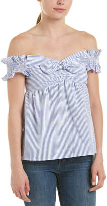 Do & Be DO+BE Do + Be Off-The-Shoulder Candy Stripe Top