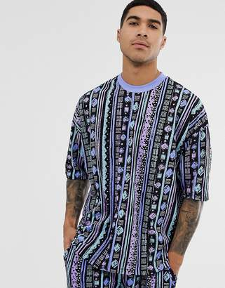 6505beb3 Asos Design DESIGN co-ord oversized t-shirt with all over aztec print