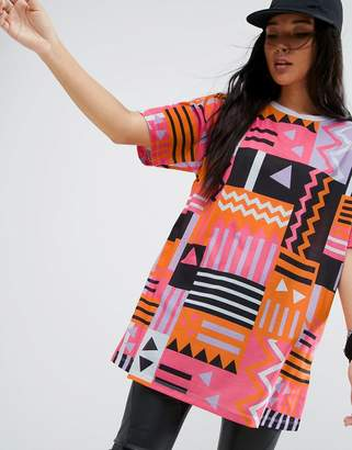 ASOS Super Oversized T-Shirt in 80s Geo-Tribal Print $29 thestylecure.com