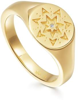 Missoma Mantra Star Struck Signet Ring