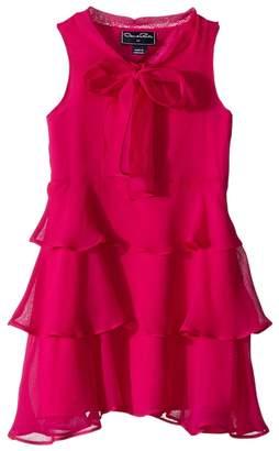 Oscar de la Renta Childrenswear - Chiffon Bow Tiered Dress