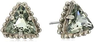 "Sorrelli Gold Vermeil"" Embellished Triangle Post Stud Earrings"