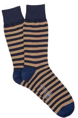 Corgi Stripe Sock in Navy
