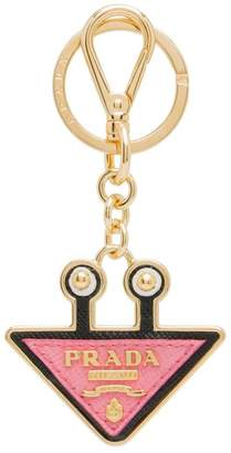 Prada Saffiano leather keychain trick