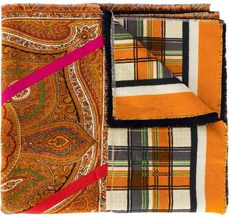 Pierre Louis Mascia Pierre-Louis Mascia paisley patchwork scarf