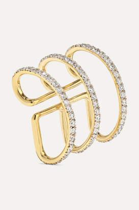 Ana Khouri Jamie 18-karat Gold Diamond Ear Cuff