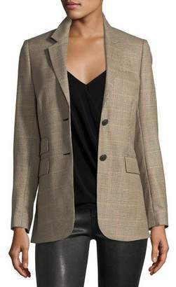 Rag & Bone Rona Two-Button Plaid Wool Blazer