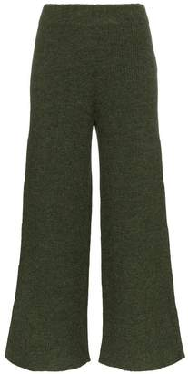 Mara Hoffman Nellie knitted wide leg alpaca trousers