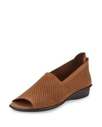 Sesto Meucci Eadan Open-Toe Demi-Wedge Sandal, Viso $165 thestylecure.com