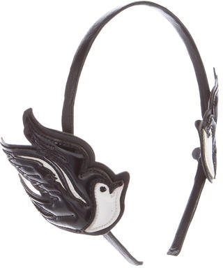 RED Valentino Red Valentino Leather Bird Headband