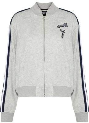 Markus Lupfer Charlotte Embellished Stretch-Jersey Bomber Jacket