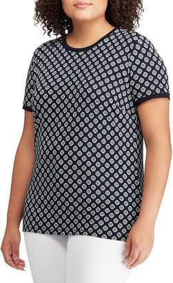 Lauren Ralph Lauren Plus Printed Short-Sleeve Stretch Top