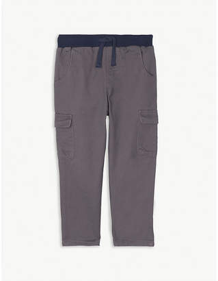 The Little White Company Twill cotton cargo trousers 1-6 years