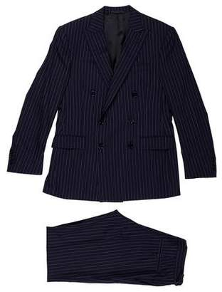 Ralph Lauren Black Label Pinstripe Wool Two-Piece Suit