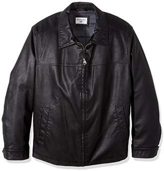 Dockers Big Smooth Lamb Faux Leather Laydown Collar
