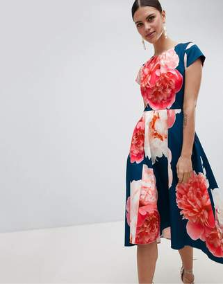 Closet London Bold Print Midi Dress