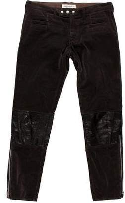 Undercover Cropped Leather-Accented Pants