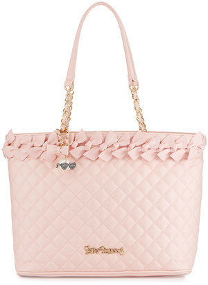 Betsey Johnson Family Ties Quilted Tote, Blush $105 thestylecure.com