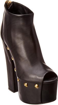 Giuseppe Zanotti Leather Peep-Toe Platform Bootie