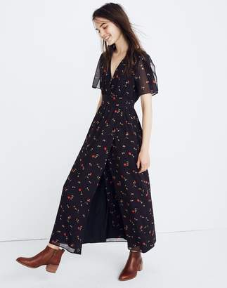 Madewell Tulip-Sleeve Maxi Dress in Sweet Blossoms