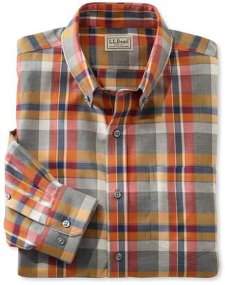 L.L. Bean L.L.Bean Wrinkle-Free Heathered Sport Shirt, Plaid