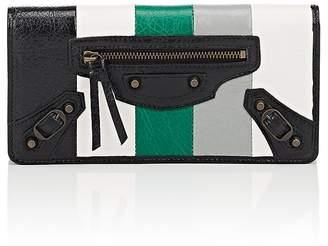 Balenciaga Women's Bazar Arena Leather Classic Money Wallet