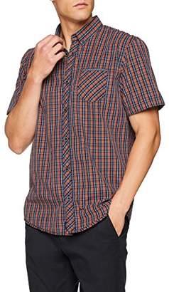 Tom Tailor Men's Karriertes Halbarm Freizeithemd Casual Shirt,XX