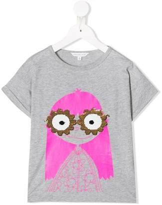 Little Marc Jacobs Miss Marc sequin sunglasses T-shirt