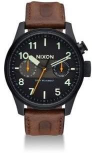 Nixon Safari Deluxe Leather Strap Watch