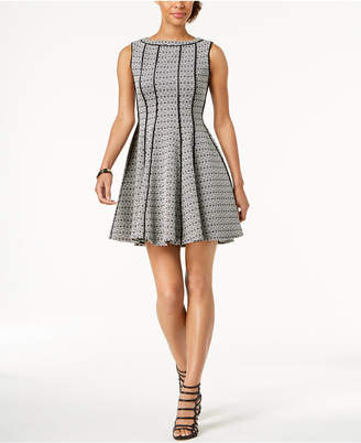 Taylor Jacquard Fit & Flare Dress