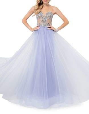 Terani Couture Glamour by Illusion Neck Ballgown