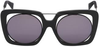 ff9e73e8a35 Yohji Yamamoto Large Squared Frame In Frame Sunglasses