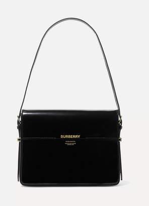 Burberry Large Patent-leather Shoulder Bag - Black