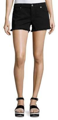 7 For All Mankind Cutoff Denim Shorts, Black