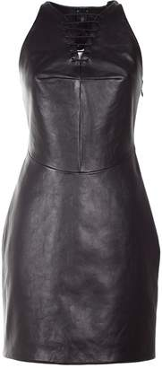 Alexander Wang Lace-up Leather Dress