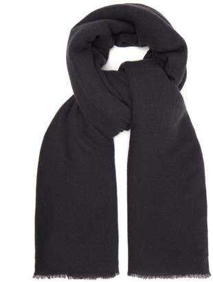 Denis Colomb Frayed cashmere scarf