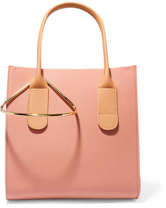 Roksanda Weekend Mini Color-block Textured-leather Tote - Peach