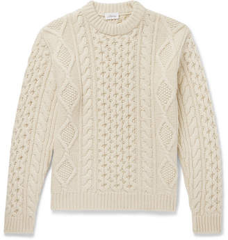 Brioni Cable-Knit Camel Hair Sweater