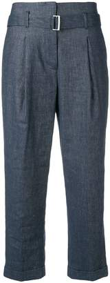 Peserico denim effect trousers